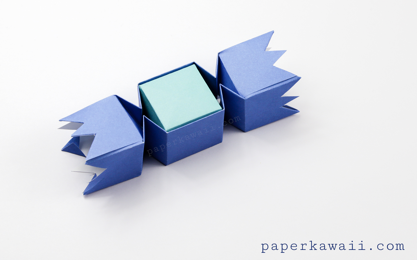 square origami candy box instructions paper kawaii