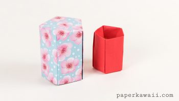 Tall Origami Pot Tutorial - Five Sided via @paper_kawaii
