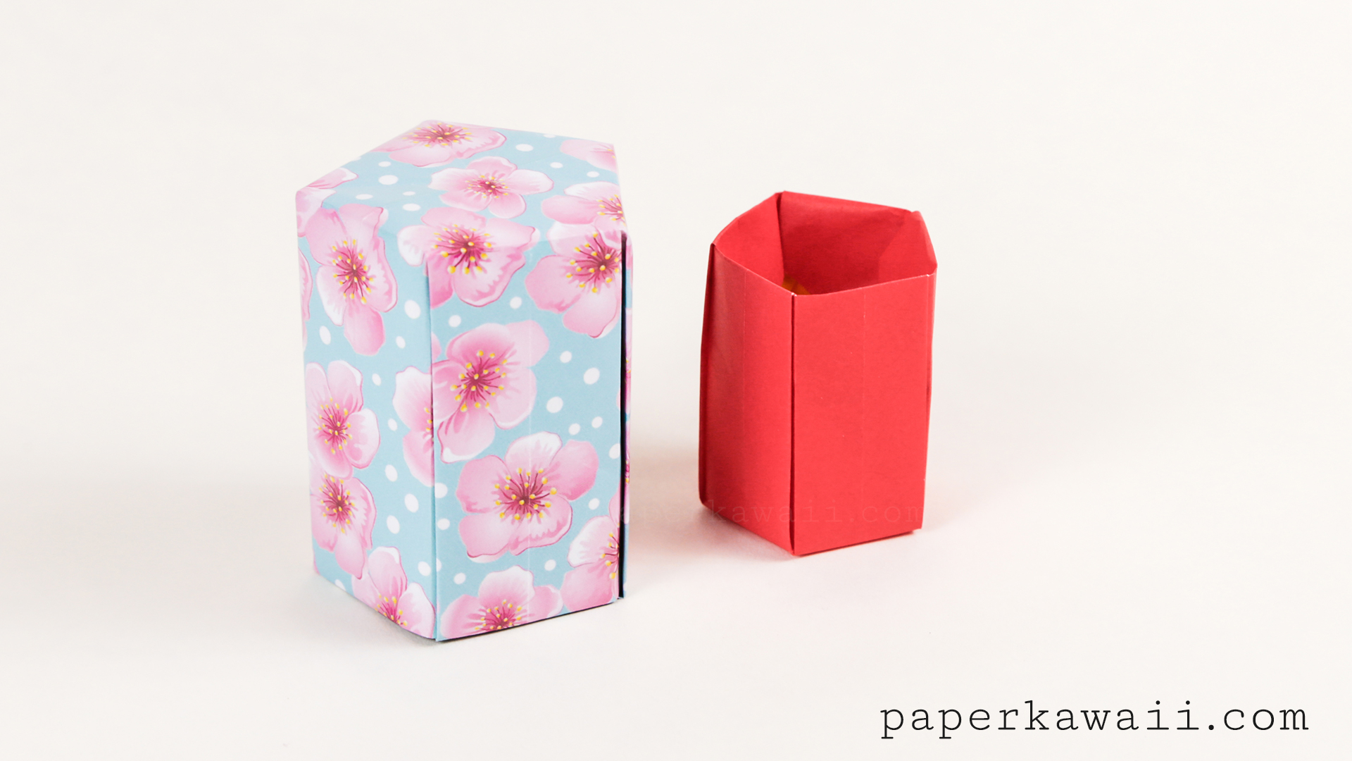 tall origami pot tutorial five sided paper kawaii