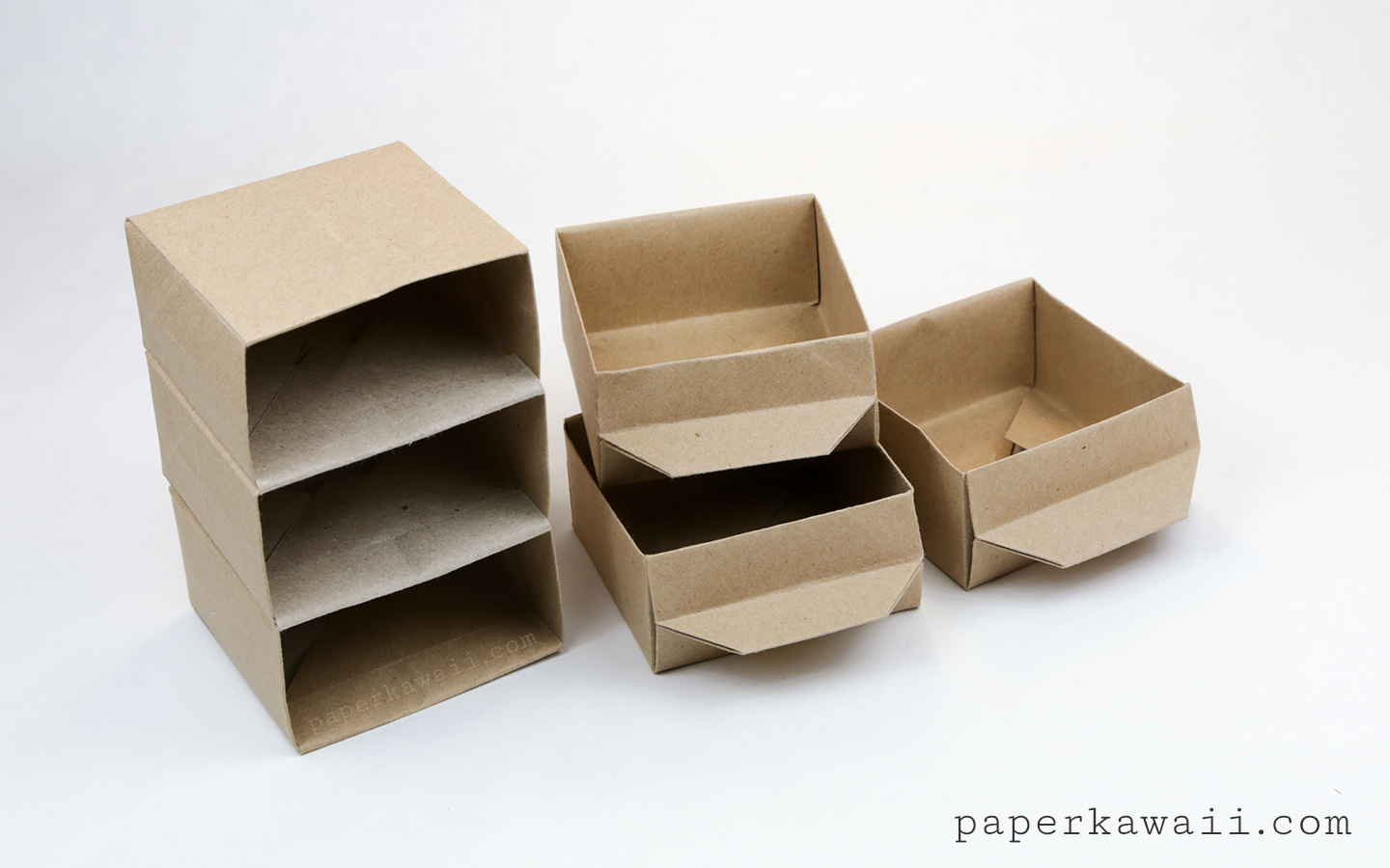 Origami Chest of Drawers Tutorial - Paper Kawaii - photo#11