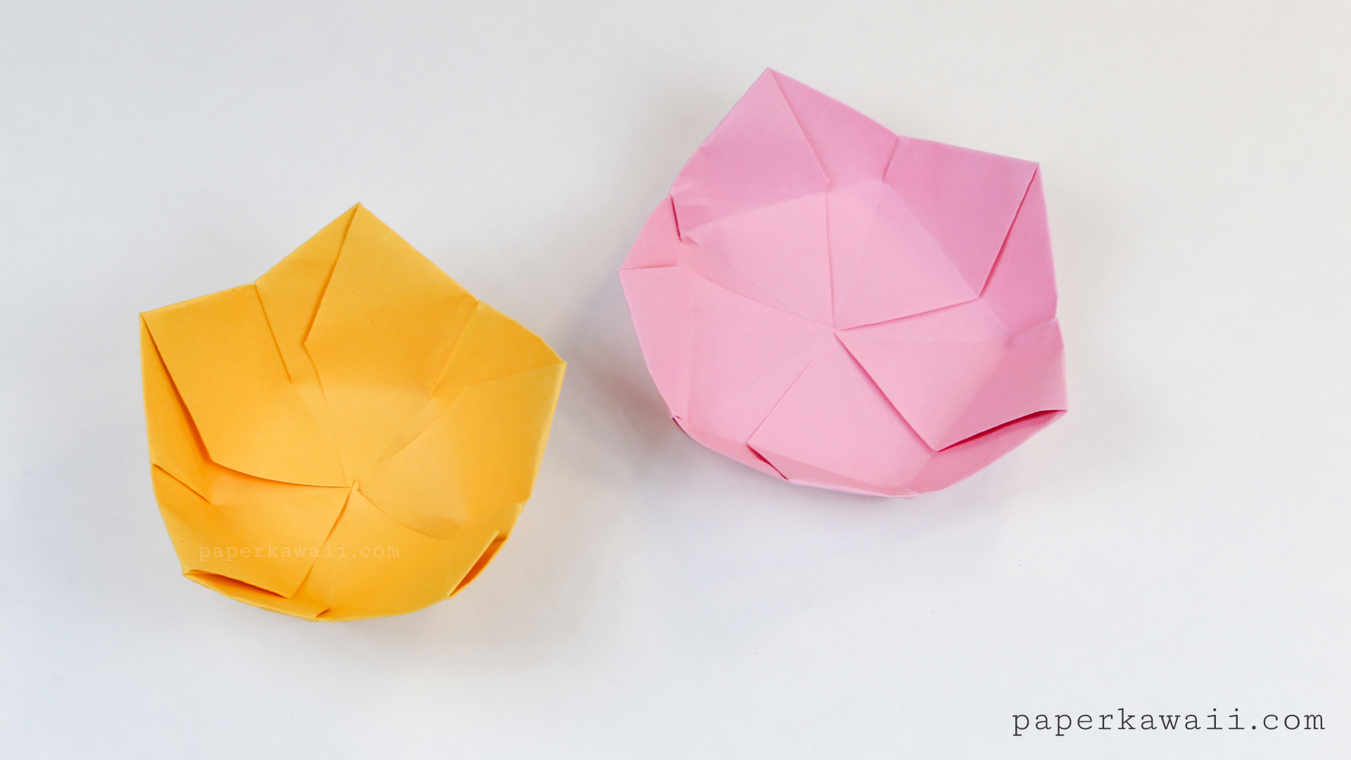Origami flower bowl tutorial paper kawaii for How to make a newspaper bowl