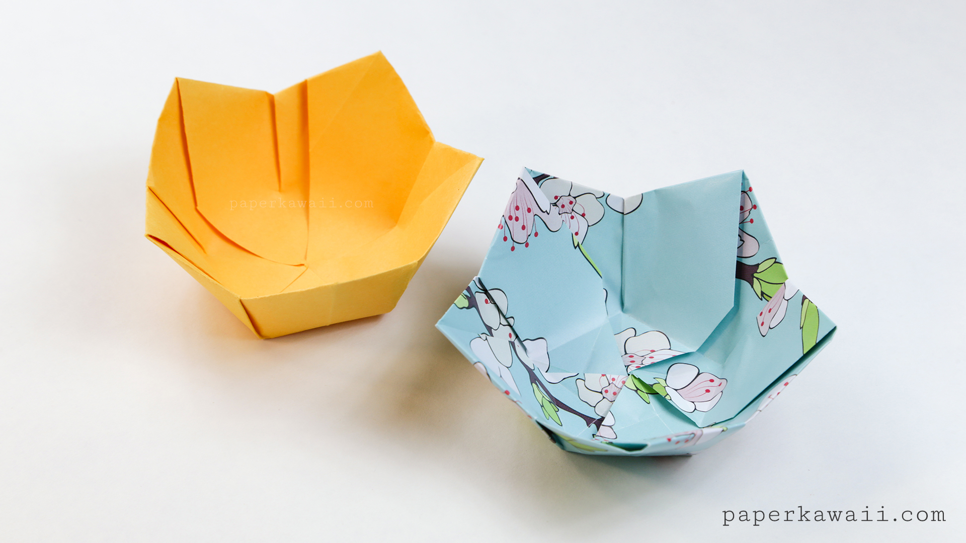 Origami flower bowl tutorial paper kawaii mightylinksfo Choice Image