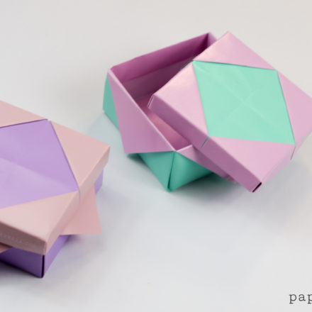 Origami Stackbox Tutorial - Stackable Boxes via @paper_kawaii