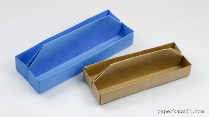 Origami Toolbox or Long Tray Tutorial via @paper_kawaii