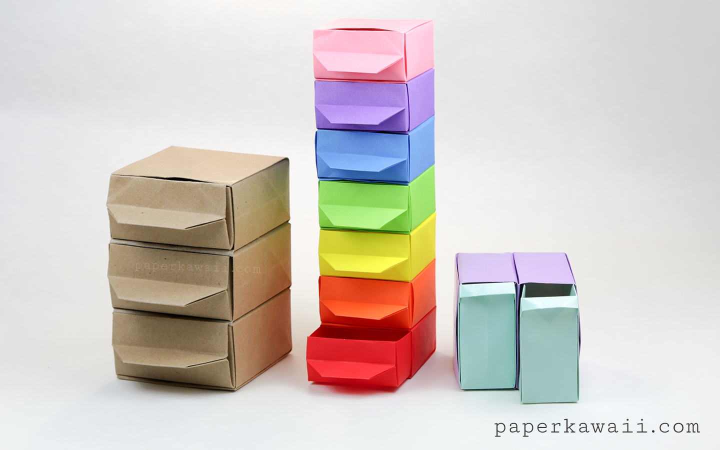 Origami Chest of Drawers Tutorial - Paper Kawaii - photo#10
