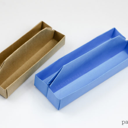 Origami 2 Tier Box Tutorial - Toolbox with Lift-out Tray via @paper_kawaii