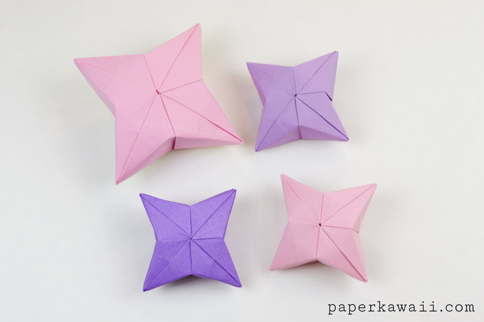 3D Origami Puffy Star Tutorial - Paper Kawaii - photo#27