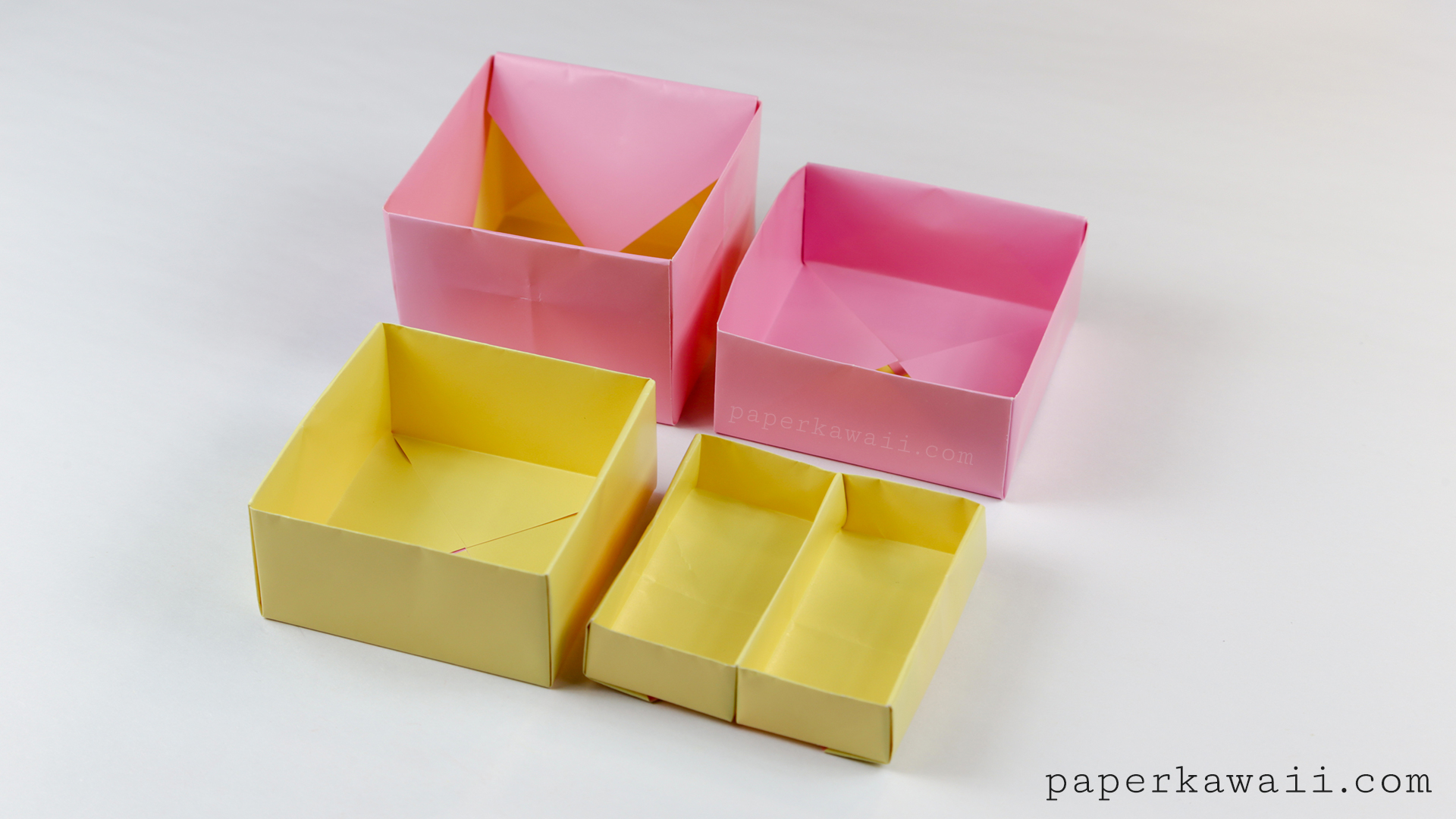 origami 2 tier box tutorial toolbox with liftout tray