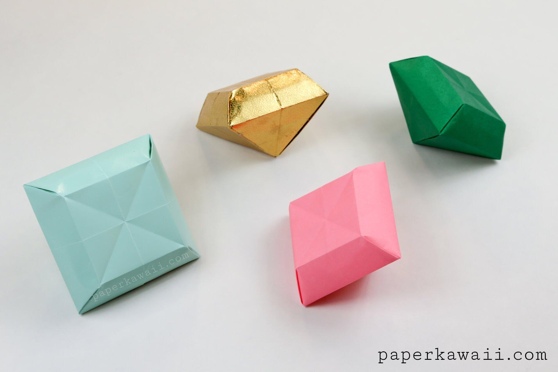 Как сделать из бумаги кристаллики 285