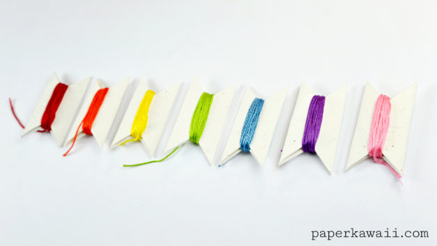 Origami Bobbins to Organise your Threads & Ribbons