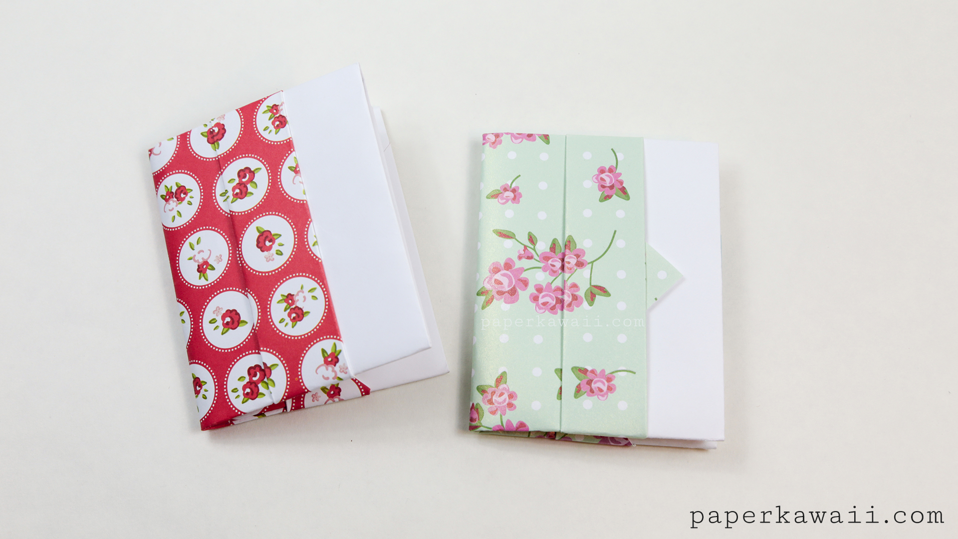 origami card wallet tutorial paper kawaii