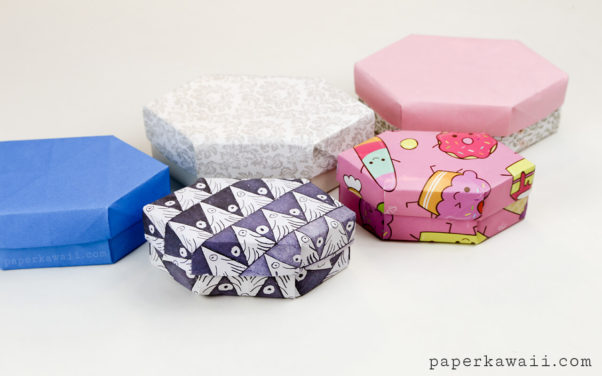 Origami Long Gem Gift Box Tutorial