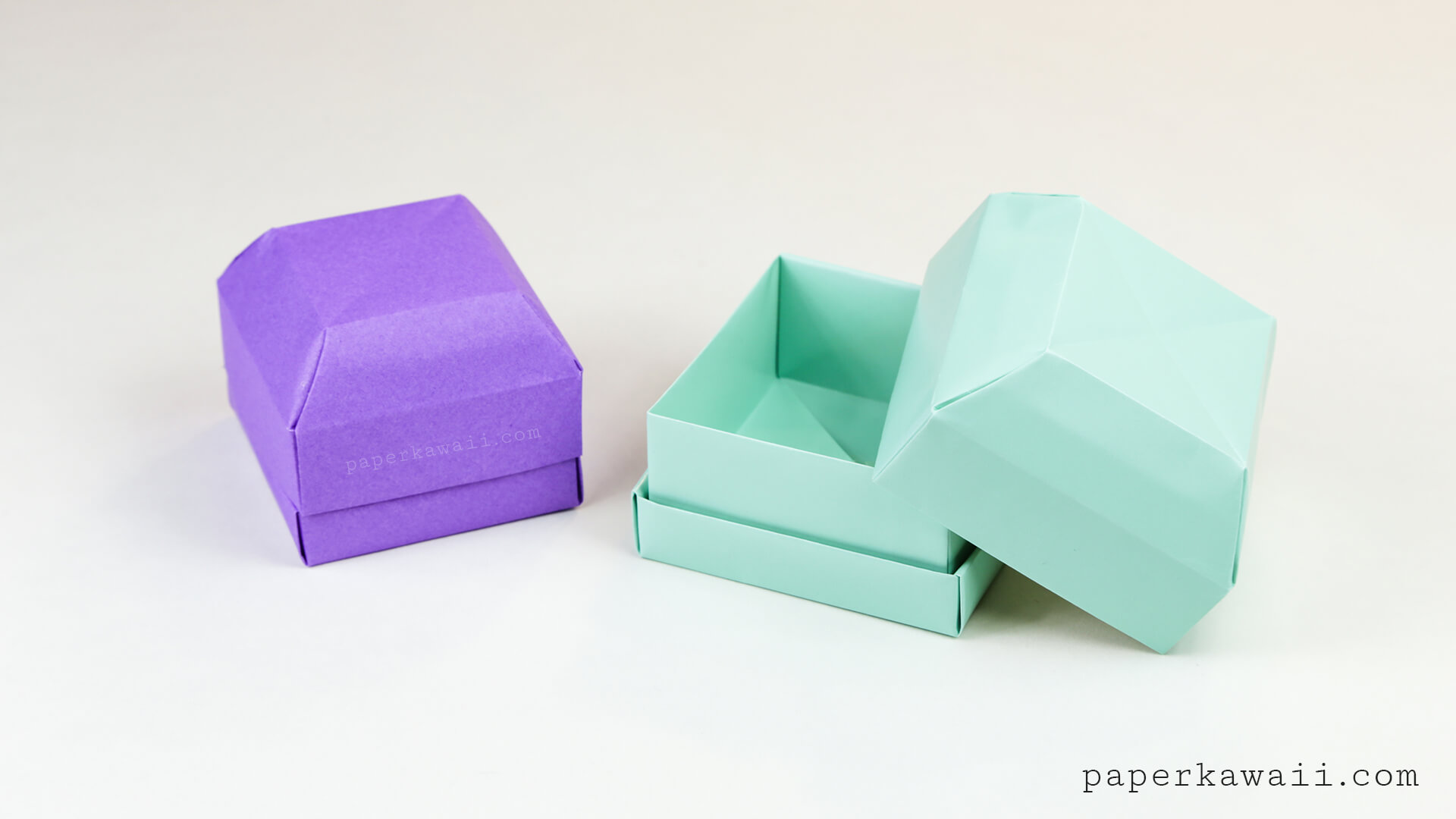Origami Gem Gift Box Tutorial - Great as a Ring Box