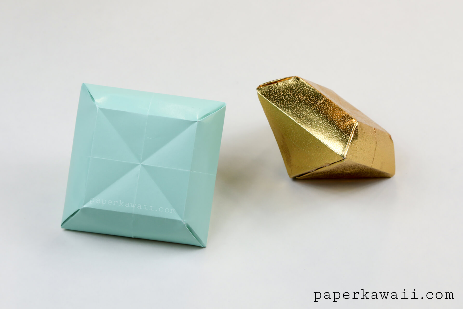 how to make a paper diamond ring out of paper