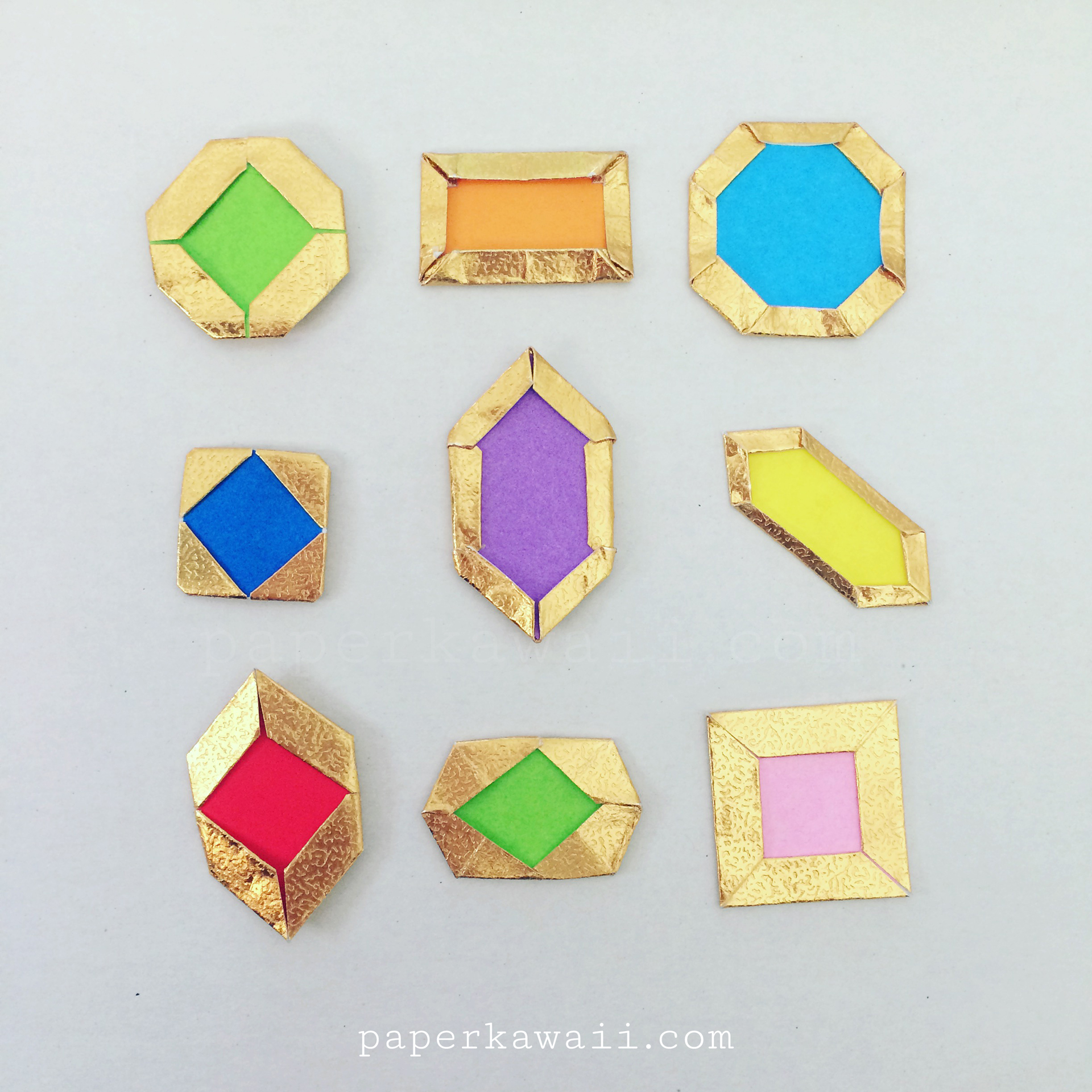How to make origami jewels gemstones paper kawaii you will need jeuxipadfo Gallery