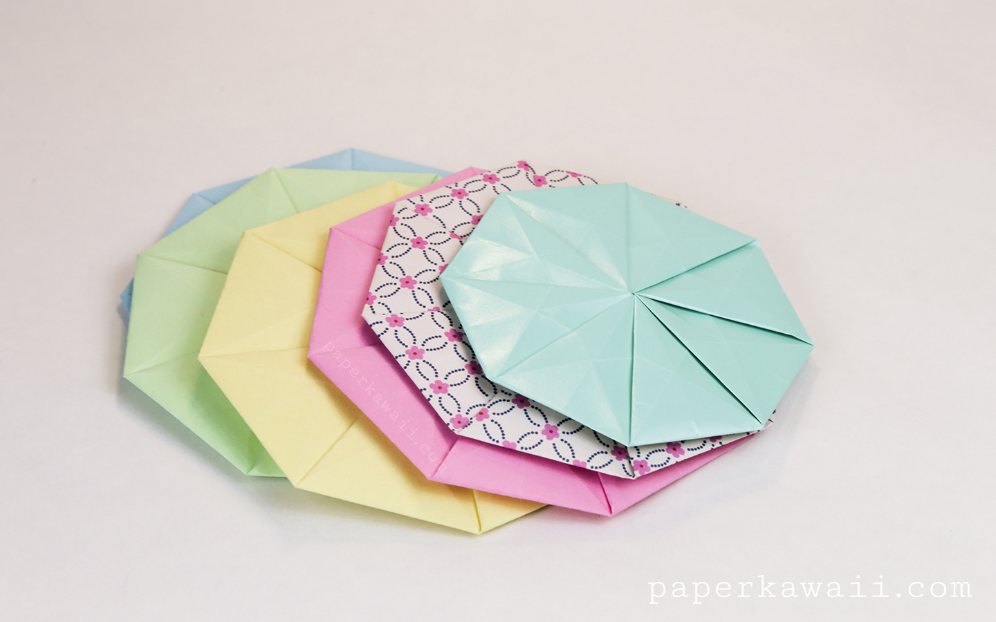 Origami Octagonal Tato Coaster - Video & Diagram via @paper_kawaii
