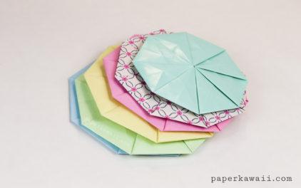 Origami Octagonal Tato Coaster – Video & Diagram