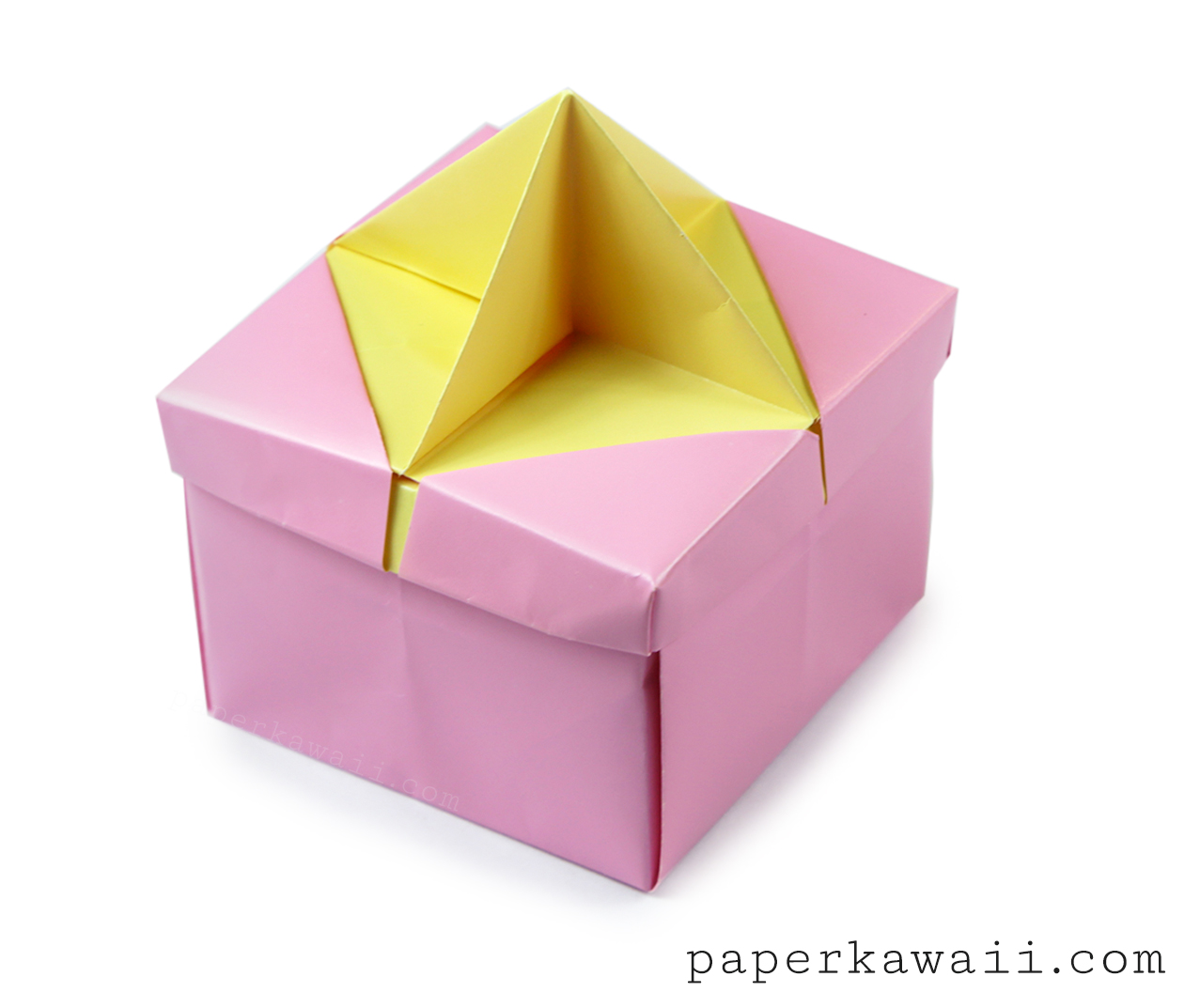 origami star handle insert for the frame lid paper kawaii