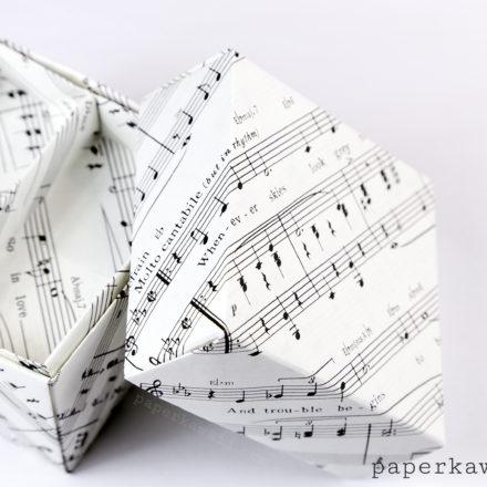 Origami Honeycomb Box Tutorial via @paper_kawaii