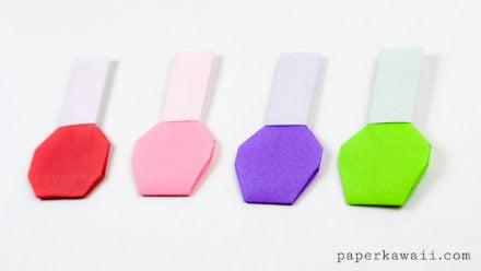 Origami Nail Polish Bottle Instructions