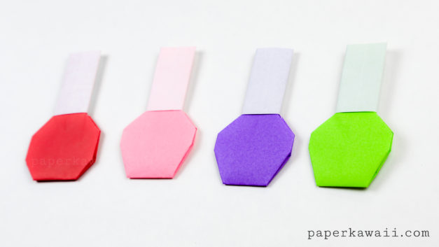 Origami Nail Polish Bottle Instructions