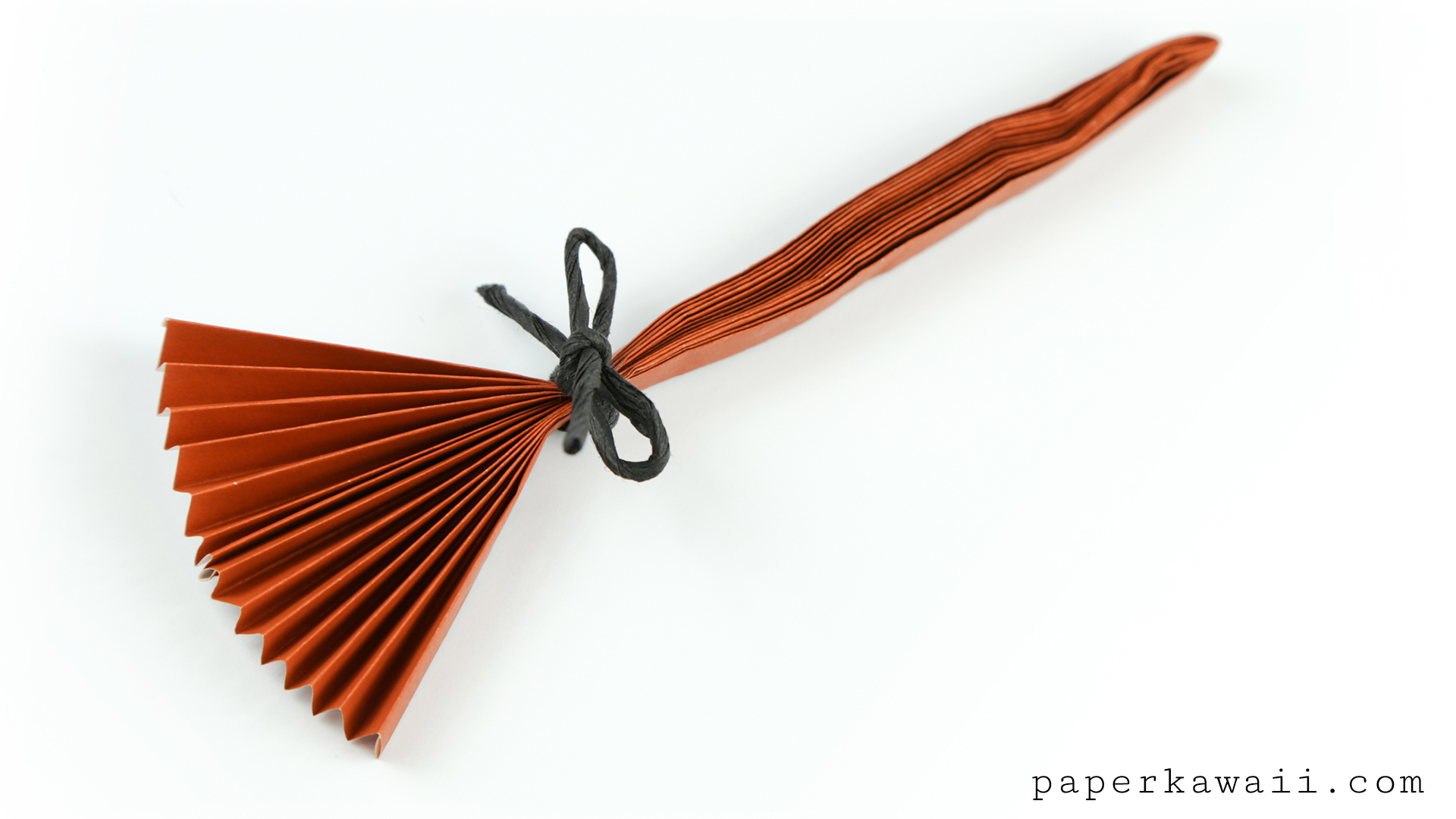 Mini Origami Diagrams Electrical Wiring Diagram Advanced Easy Broomstick Tutorial For Halloween Paper Kawaii