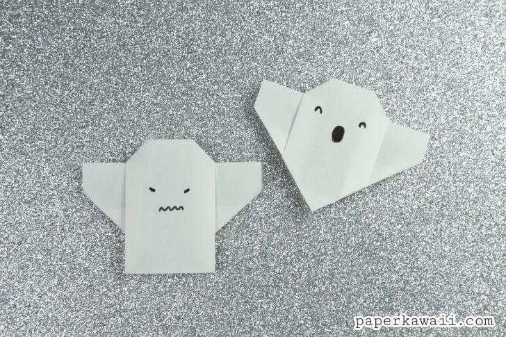 Easy Origami Ghost Tutorial For Halloween via @paper_kawaii