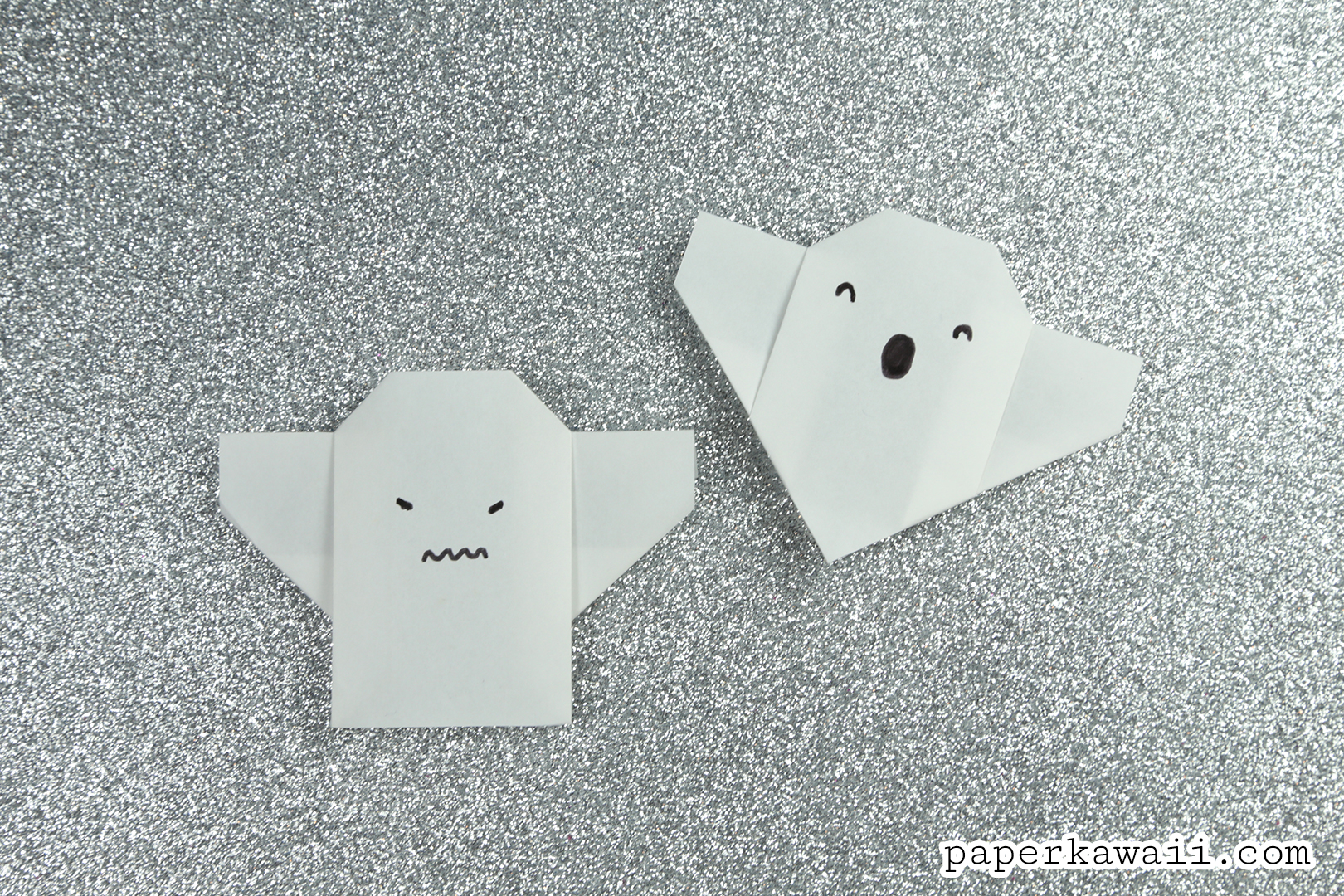 Ghost picture tutorial crafthubs easy origami ghost tutorial paper kawaii jeuxipadfo Choice Image