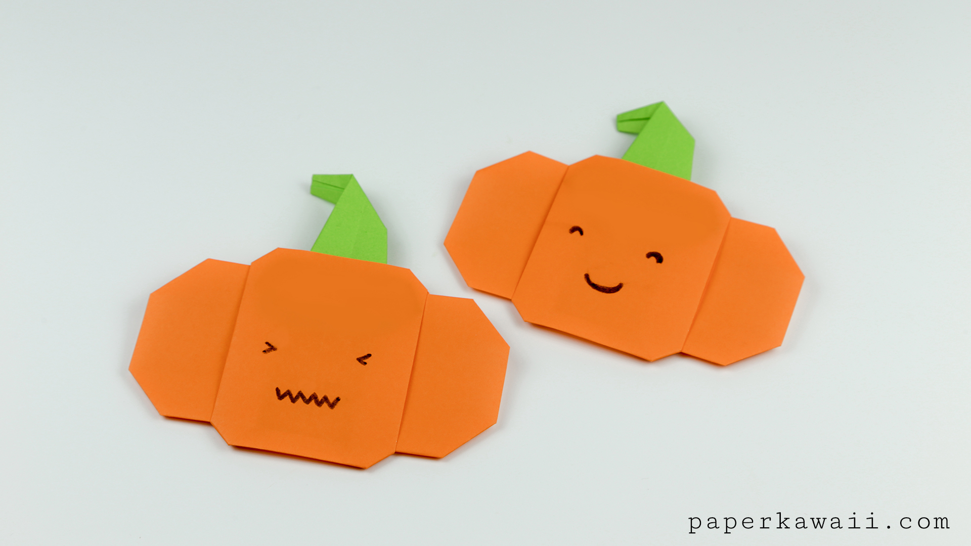 Easy origami pumpkin tutorial for halloween paper kawaii jeuxipadfo Gallery
