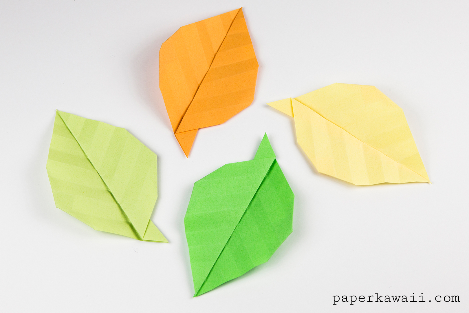 Simple origami leaf instructions video tutorial paper kawaii - Origami paper tutorial ...