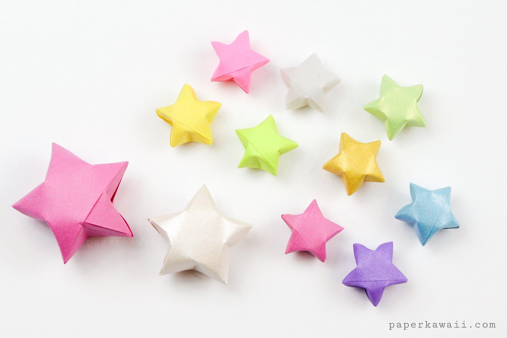 Origami Lucky Stars Tutorial - Easy & Fun! - Paper Kawaii - photo#2