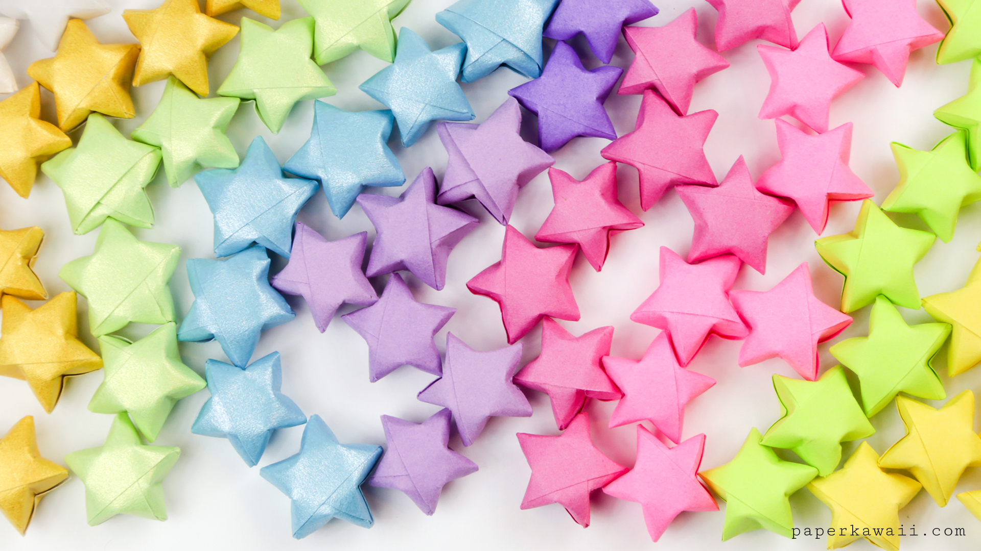 Origami Lucky Stars Tutorial - Easy & Fun! - Paper Kawaii - photo#7