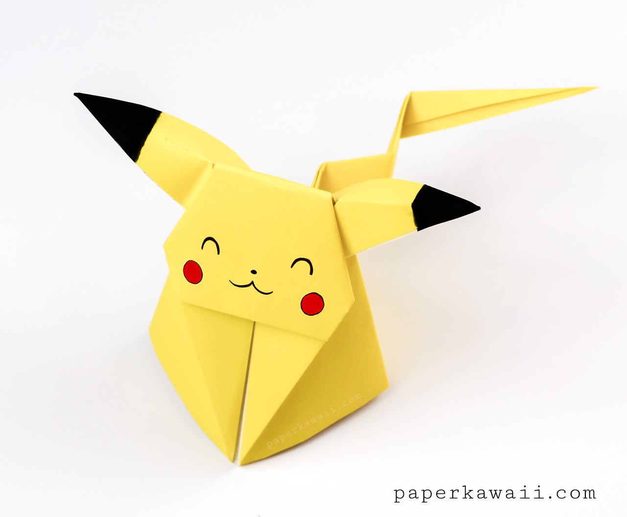 Origami Pikachu Tutorial - Cute Origami Pokemon! - Paper Kawaii on