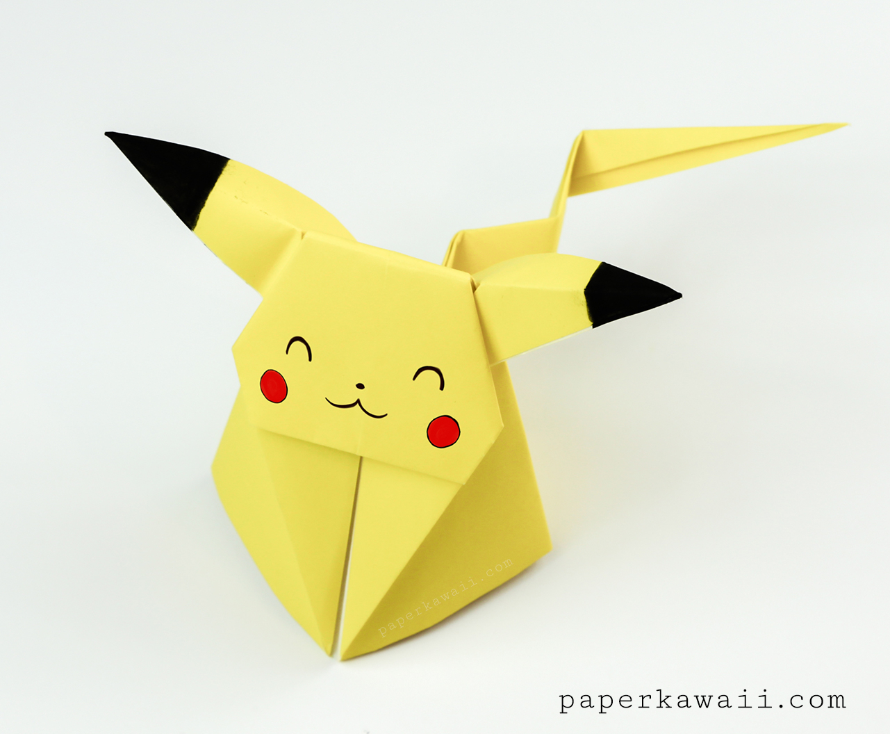 Origami Pikachu Tutorial - Cute Origami Pokemon! - Paper Kawaii