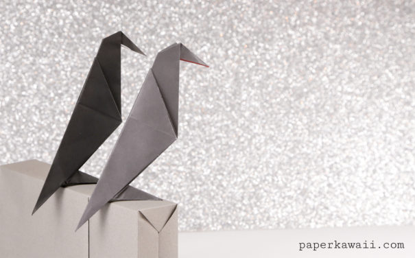 Easy Origami Crow Tutorial Video