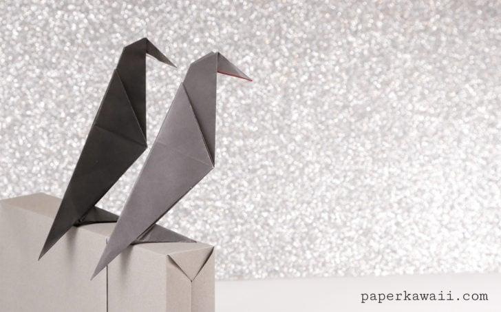 Easy Origami Crow Tutorial
