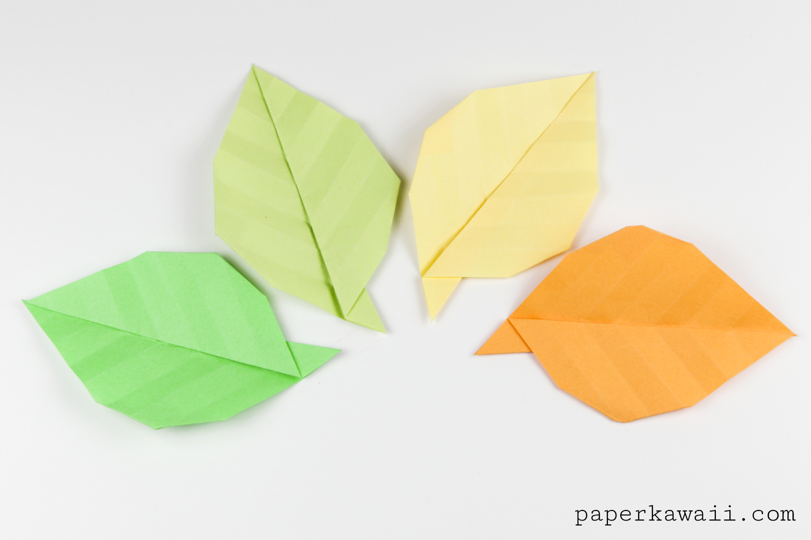 simple origami leaf instructions video tutorial paper
