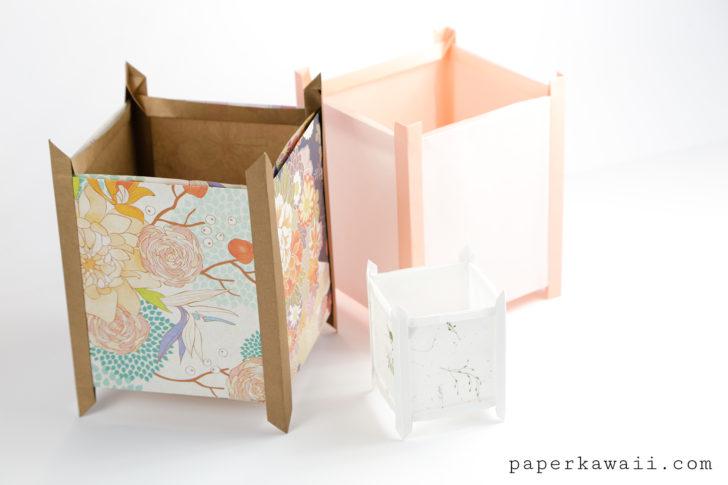 Origami Lantern Tutorial - Japanese Andon Lampshade via @paper_kawaii