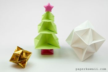 Origami Christmas Tree Tutorial via @paper_kawaii