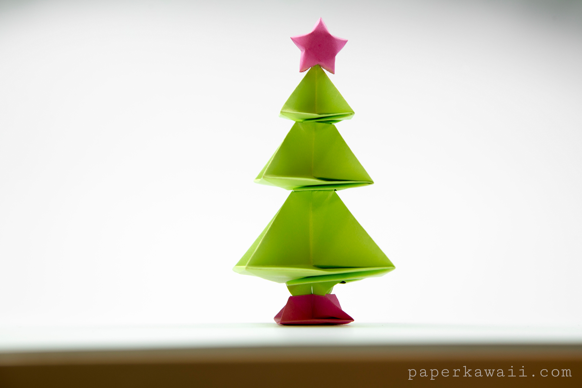 Origami Christmas Tree Tutorial - Paper Kawaii