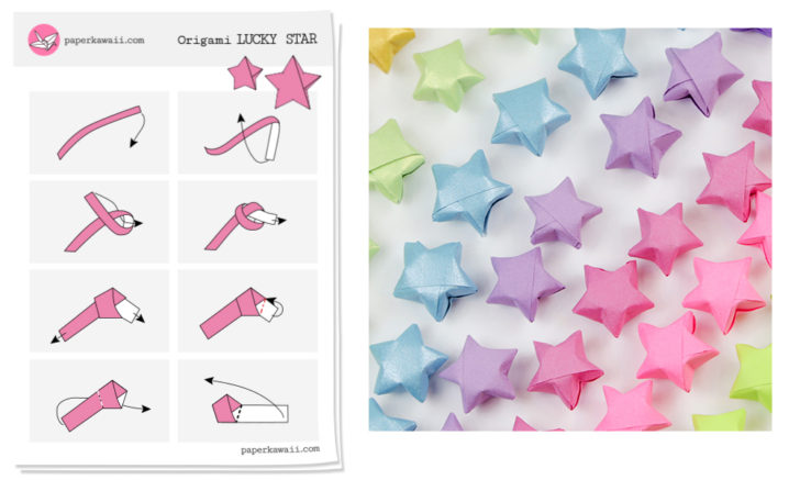 30Pcs Fluorescent Small Heart Stars Fluorescente Strips