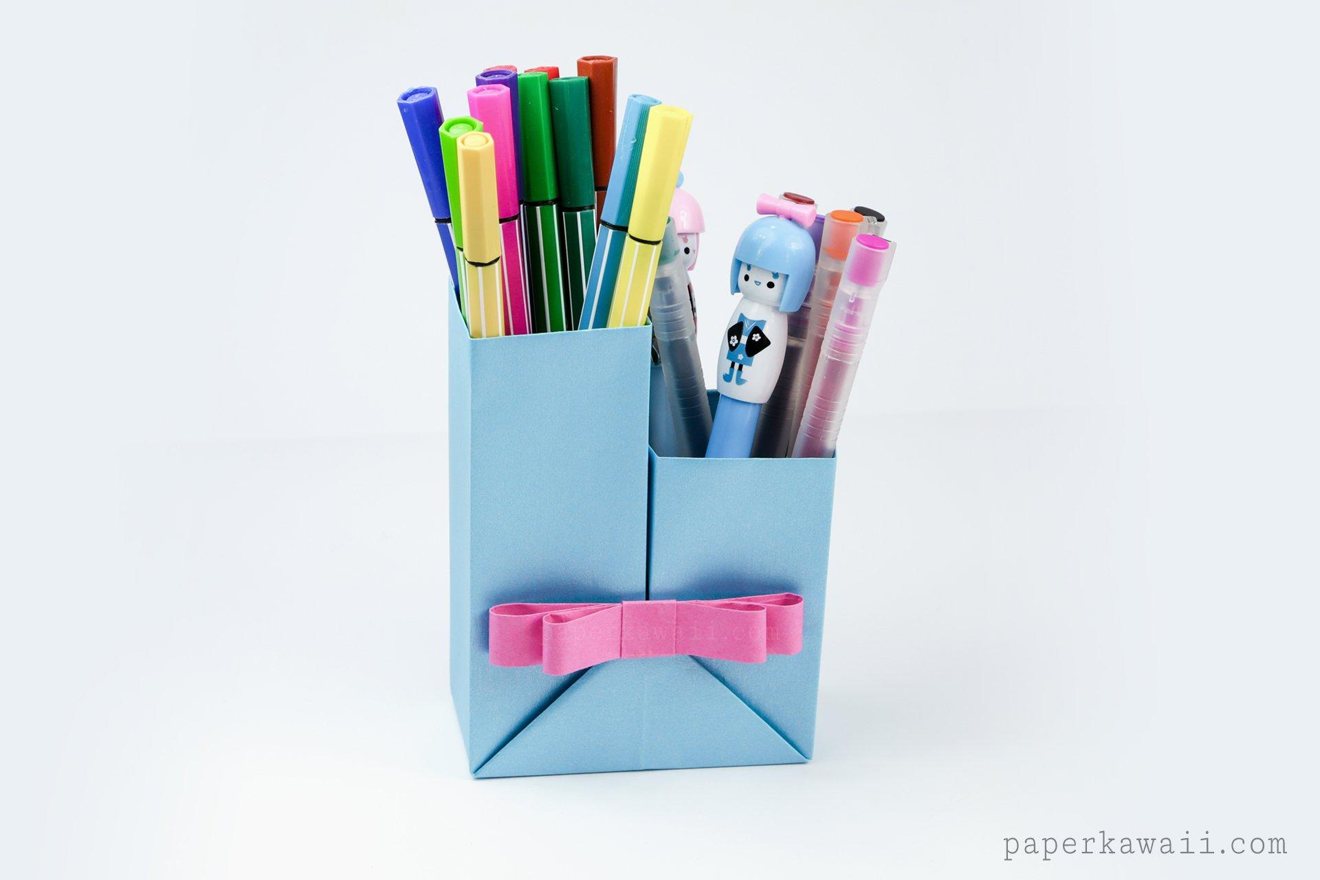 Origami Pencil Pot Tutorial – Marc Vigo