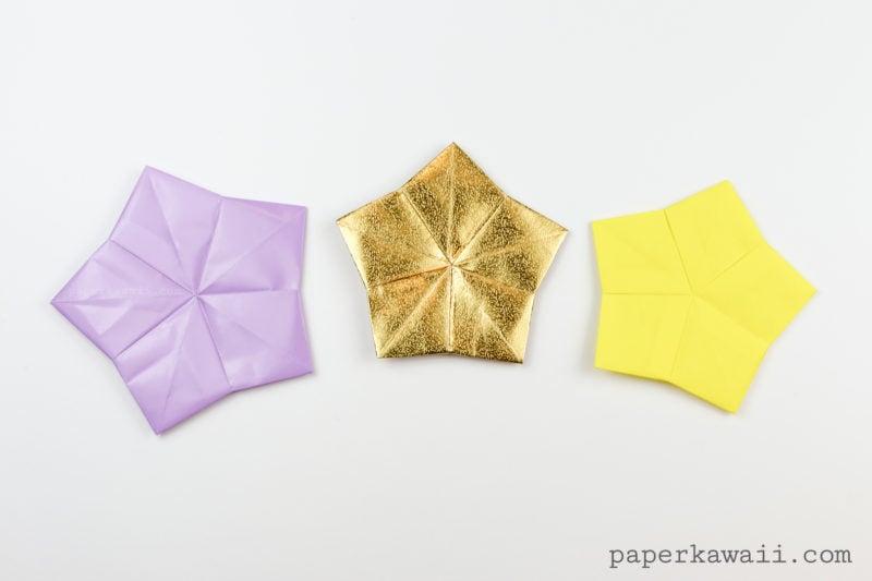 5 Point Origami Star Coaster / Tato Tutorial via @paper_kawaii