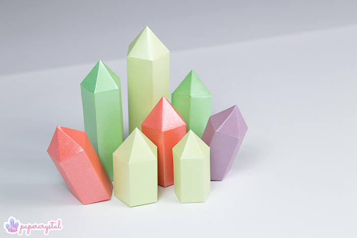 paper-crystal-printable-gem-templates-cluster