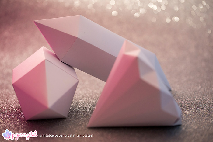 paper-crystal-printable-gem-templates-pink-bokeh