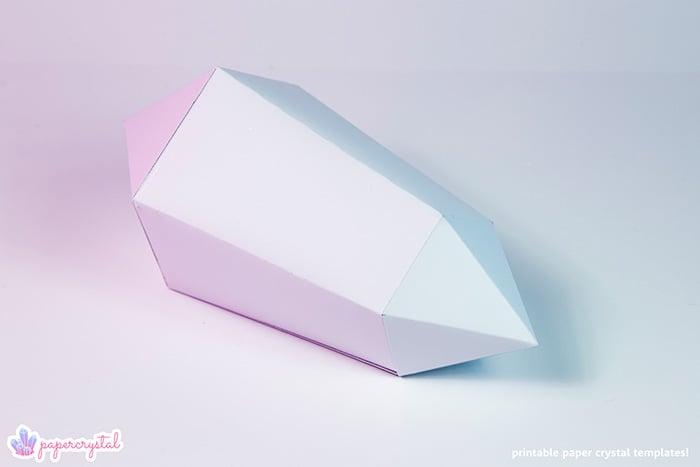 paper-crystal-printable-gem-templates-warped-bipyramid-white