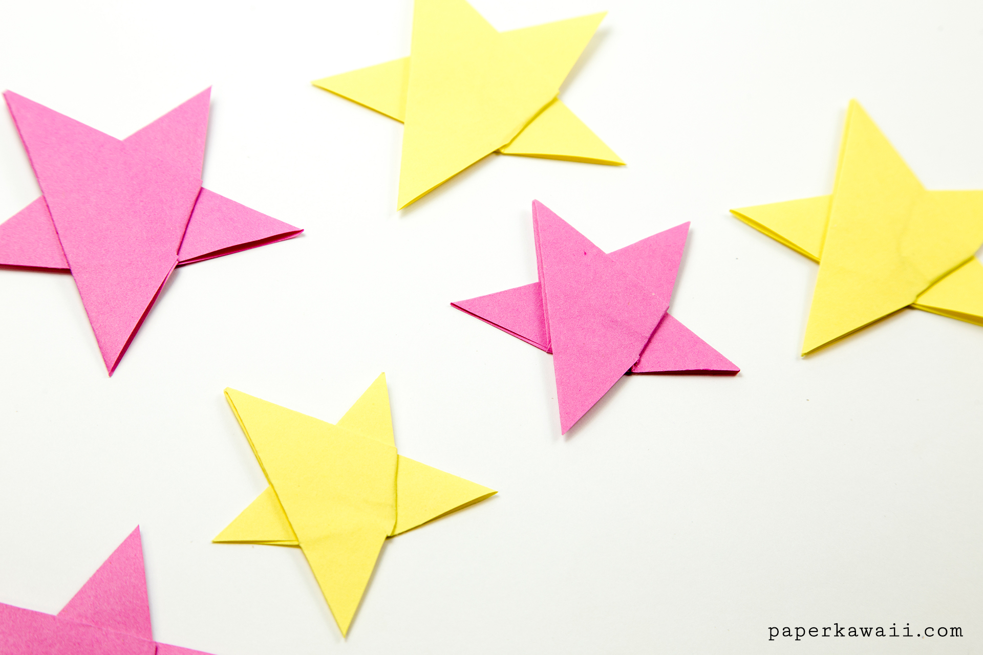 Simple Origami 5 Point Star Tutorial - 1 Sheet - Paper Kawaii - photo#23