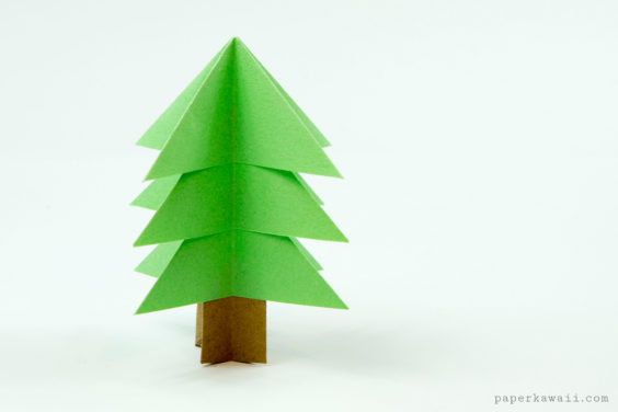 Easy Origami Christmas Tree Tutorial!
