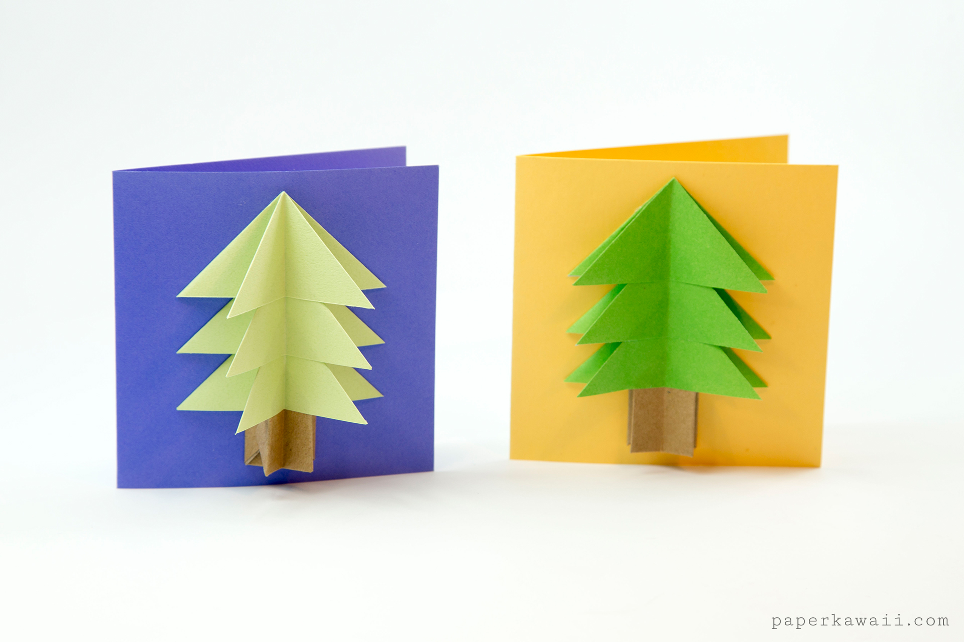 easy origami christmas tree tutorial paper kawaii