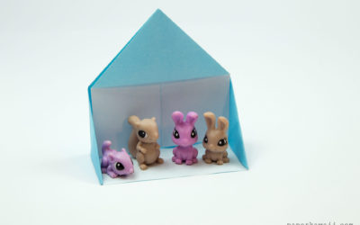 Easy Origami Dollhouse Tutorial – DIY Paper House!